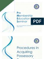 Online PMES - Procedures in Acquiring Possessory Document