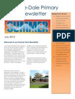 Summer Term Newsletter 2012