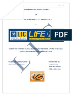 Project Report on Risk Mgt in Life Insurance