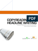 Copy Reading and Headline Writing