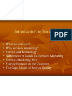 Introduction to Marketing of Services