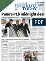 Manila Standard Today - Saturday (September 8, 2012) Issue
