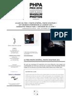 Communiqué de presse PHPA 2012 - résultats