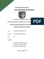 """GESTION PRESUPUESTARIA DE LA UNIVERSIDAD  """"SANTIAGO ANTUNES DE MAYOLO"""""""