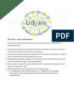 Srijan 2012 - Rules & Regulations