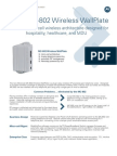 T3 MC-802 Wireless WallPlate Specsheet