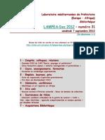 LAMPEA-Doc 2012 – numéro 31 / vendredi 7 septembre 2012