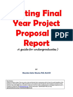 Writting Final Year Project Proposal and Report
