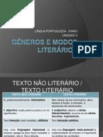 Géneros e Modos Literários