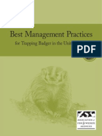 Best Management Practices for Trapping Badger in the United States