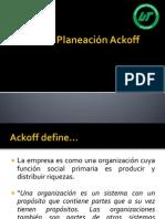 Estilo de Planeación Ackoff