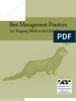 Best Management Practices for Trapping Mink in the United States