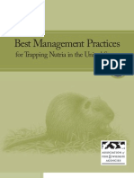 Best Management Practices for Trapping Nutria in the United States