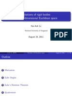 Rotations in 3 d Space