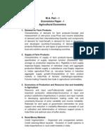 M.a. PART - I Agriculture Economics - Eng