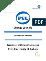 Pel Internship Report from university of lahore