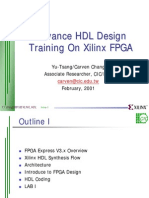 Advance HDL Design Training on Xilinx FPGA