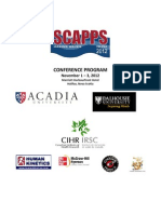 Conference Program for SCAPPS 2012