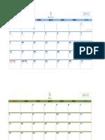 Calendario Excel 20112