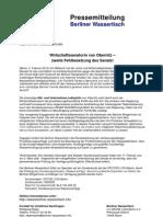 Pressemitteilung vom Berliner Wassertisch vom 2. Februar 2012