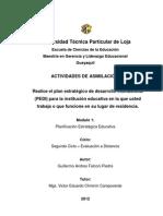 Plan Estratégico de Desarrollo Institucional (PEDI) para la institución educativa