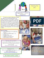 Newsletter Sept 7 2012