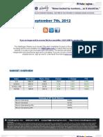 ValuEngine Weekly Newsletter Septermber 7, 2012