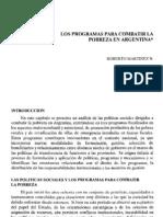 Los programas para combatir la pobreza en Argentina