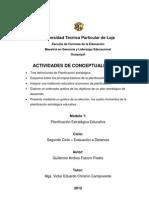Definiciones, principios, de planificación estratégica, objetivos de un plan estratégico de desarrollo