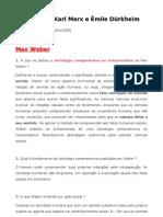 Marx x Dürkheim x Weber (pdf)