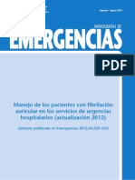 Manejo de la fibrilación auricular en los Servicios de Urgencias Hospitalarios (Actualización Agosto 2012)