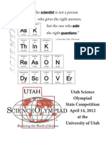 2012 Utah Science Olympiad Program
