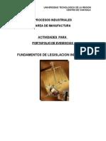 Guia Para Elaborar El Portafolio de Evidencias de Fundamentos de Legislacion Industrial