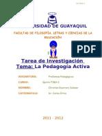 Tarea de Prob Pedag Pedagogía activa 5º FM