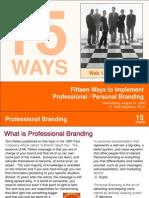 15 Ways to Professionally Brand You