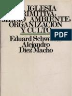 Schweizer, Eduard - La Iglesia Primitiva Medio Ambiente Organizacion
