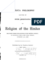 Religion of the Hindus - by Swami Abhedananda