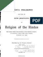 Religion of the Hindus - by Swami Abhedananda