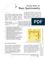 Mass Spectrometry - Short Note