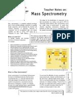 Mass Spectrometry - Short Note