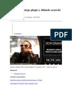 Don Omar Niega Plagio y Difunde Acuerdo Con EMI