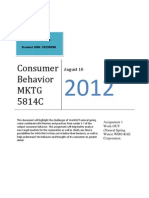 Consumer Behavior MKTG 5814C
