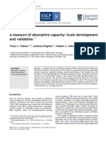 Flatten Et Al (2011) - A Measure of Absorptive Capacity - Scale Development and Validation