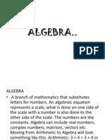 ALGEBRA Powerpoint