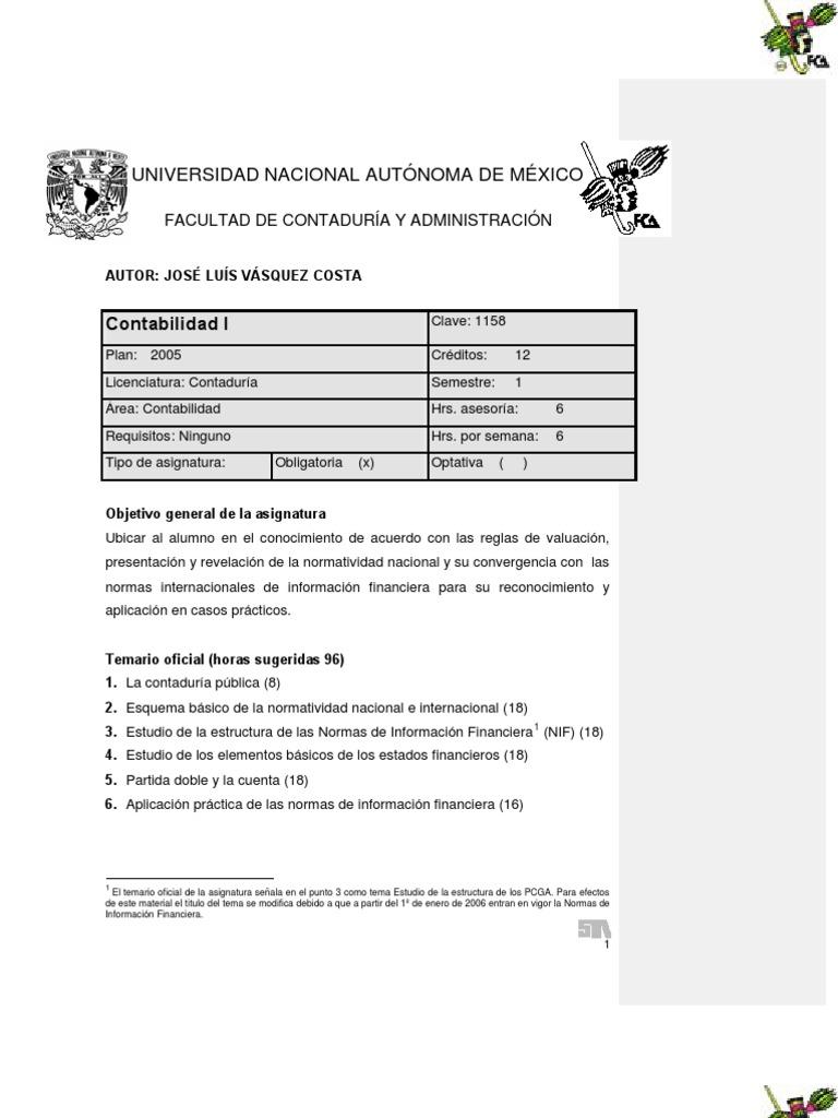 Contabilidad - UNAM