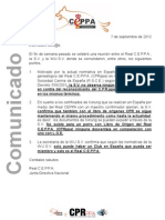 Real CEPPA Comunicado 7-9-2012 2