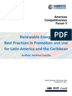Andrea Luecke, Renewable Energy - Best Practices in Promotion and Use for Latin America and the Caribbean, 10-2011