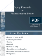 Equity Research in Pharma Sector