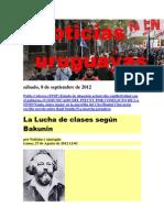 Noticias Uruguayas sábado 8 de setiembre del 2012