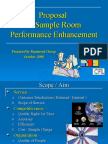 Freelance Consultancy Project - Sample Room Performance Enhancement